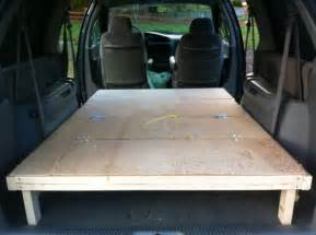 Diy Platform Bed Conversion Minivan Cing On