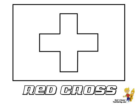 red cross flag coloring page you have all 195