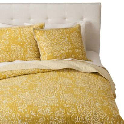 target threshold bedding threshold gully paisley quilt yellow quilts
