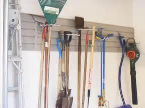 Garage Yard Tool Organizer Garage Wall Organization Systems Panels Slatwall Hooks