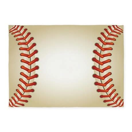 baseball area rug baseball 5 x7 area rug by decorativedesigns