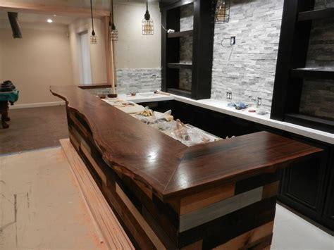 walnut bar top live edge walnut bar top by gregg m lumberjocks com