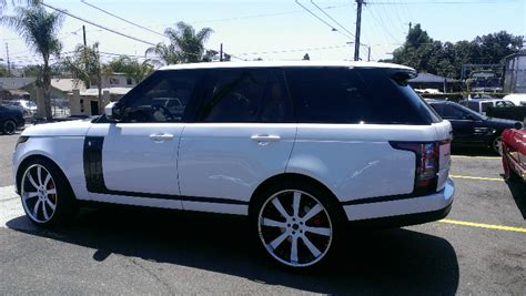 range rover custom wheels white range rover with custom wheels joe s stereo