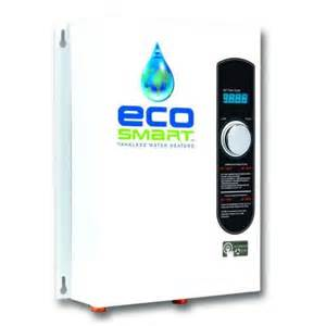 water heater home depot ecosmart 18 kw self modulating 3 5 gpm electric tankless