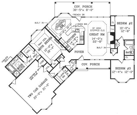 angled ranch house plans angled country ranch 3823ja architectural designs house plans