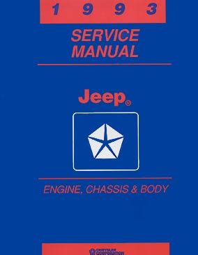 1993 jeep wrangler engine factory repair manual 1993 jeep cherokee wrangler repair shop manual original