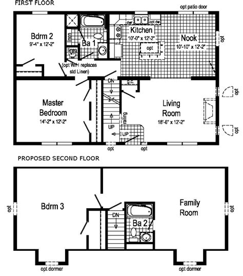 Cape Cod Blueprints Pleasantdale Modular Home Floor Plan