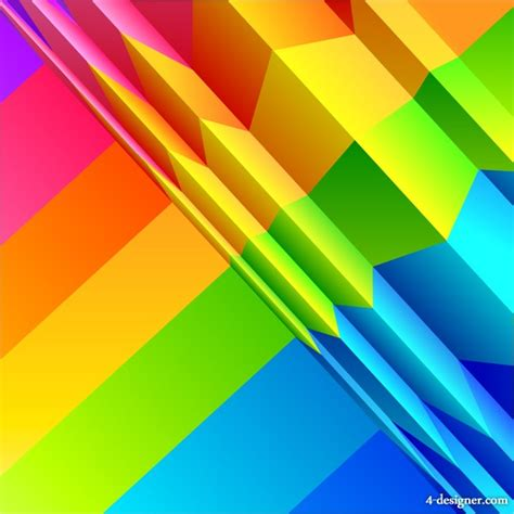 colorful designer 4 designer colorful origami background design vector material base map