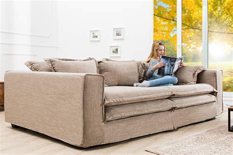 xxxl sofa cloud sand leinen stoff hussen cm riess ambientede