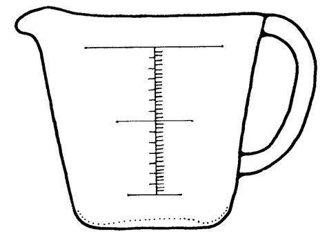measure template images of measuring cups cliparts co