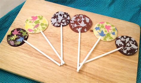 Handmade Chocolate Lollipops - pretty chocolate lollipops turquoise lemons