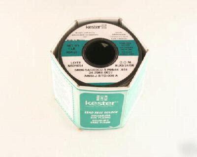 New Sn98 A new kester lf solder 24 7068 0027 sn98 5ag03cu 5