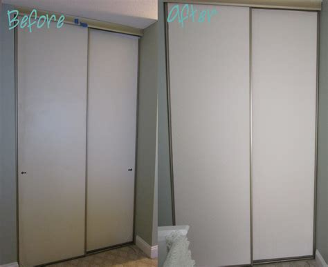 How To Update Sliding Closet Doors Another Closet Door Update Technically Organized