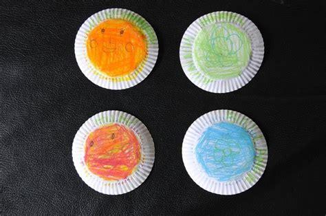 Tutup Gelas Kertas craft for prakarya mudah untuk anak kue dari tutup
