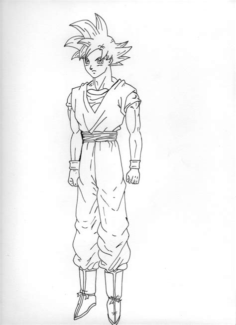 dragon ball z battle of gods 2 coloring pages goku ssj god lineart by raphaelss on deviantart