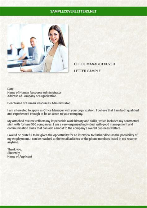 office manager cover letter sample marvelous sample of office