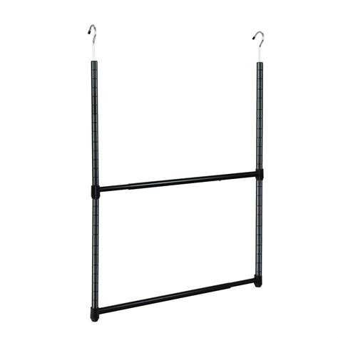 Metal Closet Rod by Oceanstar 2 Tier Metal Portable Adjustable Closet Hanger
