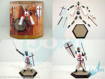 Figure Great Warriors 4d Puzzle European Crusader jomi toys maintenance 3dpuzzle great warriors