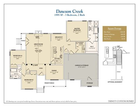 house plan 2219 dawson floor plan traditional 1 1 2 floor plans trinity custom homes georgia