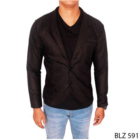 Jaket Jas Jas Pria Formal Hitam jas semi formal katun hitam blz 591 gudang fashion