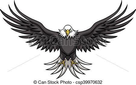 eagle mascot spread the wings vector illustration vectors