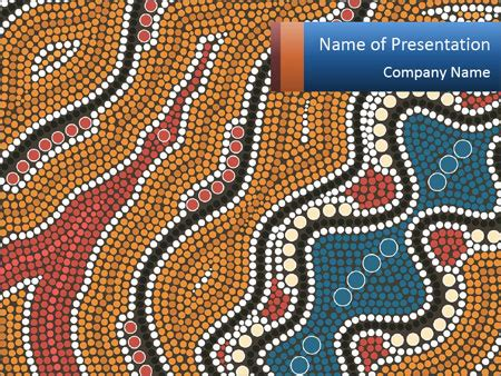 aboriginal dot templates for aboriginal dot painting powerpoint template backgrounds