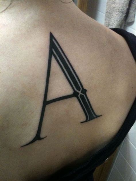 single letter lettering lettering tattoos picture
