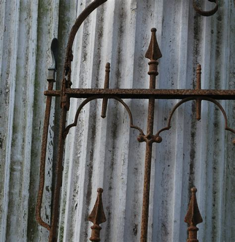 antique stewart iron works wrought iron gate