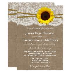 sunflower wedding invitations templates the rustic sunflower wedding collection card zazzle