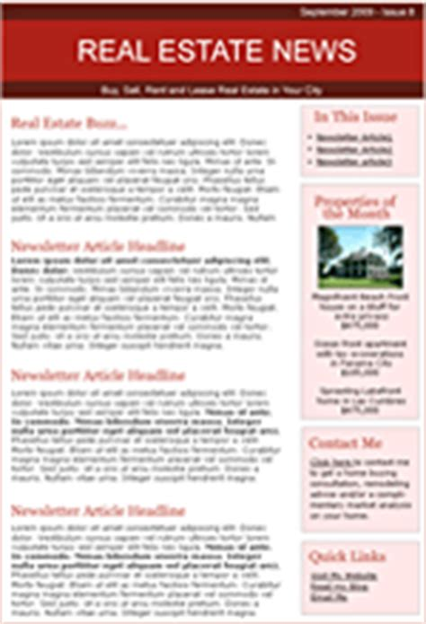 real estate newsletters templates real estate email templates benchmark