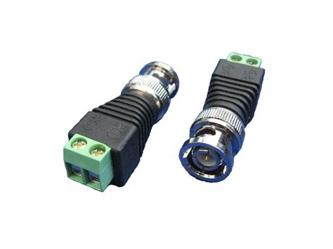 Konektor T Bnc Made Taiwan china coax cat5 to cctv bnc balun connector