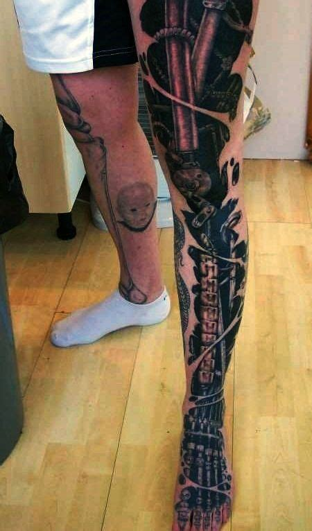 full leg tattoos for men bio mechanical tattoos for tattoos for