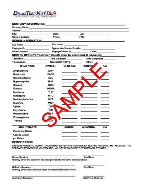 test results form template fillable test results form