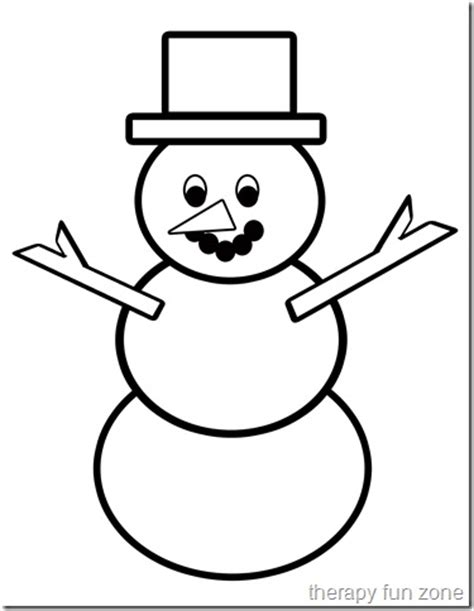 scissor cutting snow man template therapy fun zone
