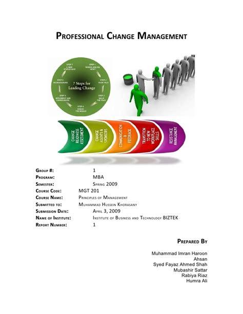 Change Management Syllabus Mba by Professional Change Managementreport Doc