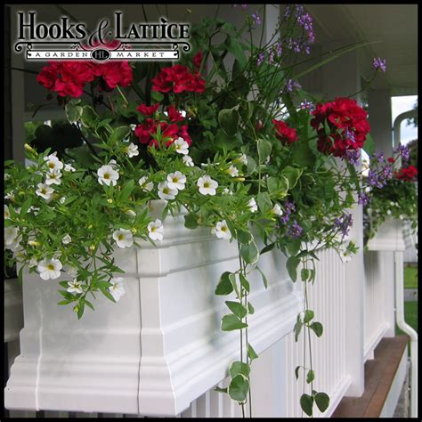 vinyl window flower boxes vinyl window boxes vinyl flower boxes hooks lattice