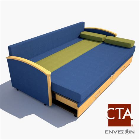 Sofa Sleeper Hospital 3d Model Hospital Sleeper Sofa