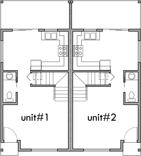 duplex narrow lot floor plans narrow lot duplex house 16 ft wide units