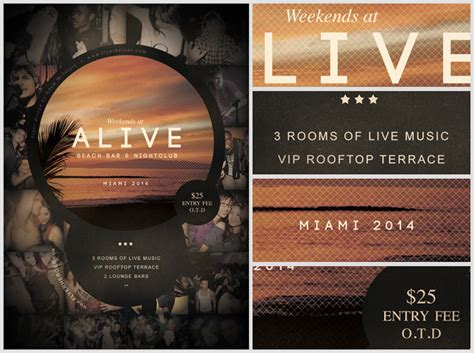 Alive Bar Flyer Template