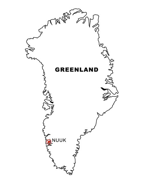 greenland map coloring page greenland colouring pages