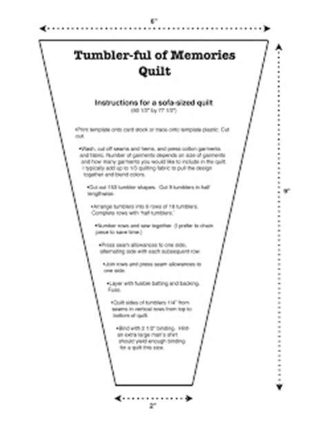 create your own tumbler template la todera tumbler ful of memories quilt