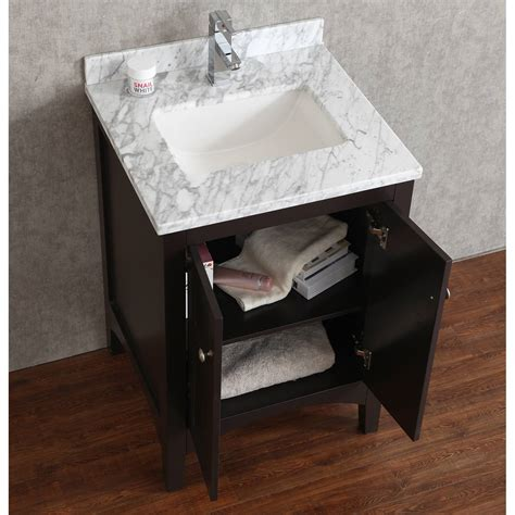 Martin Vanity by Buy Martin 24 Inch Solid Wood Single Bathroom Vanity In Espresso Hm 001 24 Wmsq Esp