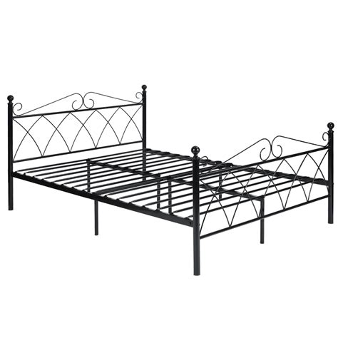 full size metal bed frame for headboard and footboard platform metal bed frame foundation headboard furniture