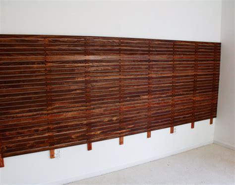 slatted headboard diy slatted headboard with upholstered floating platform
