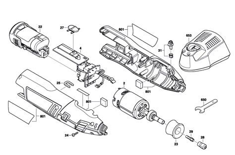 dremel parts diagram buy dremel 8100 f013810000 replacement tool parts