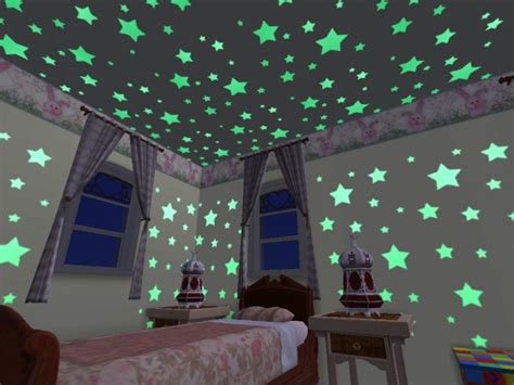 star lights in bedroom mod the sims glow in the dark neon walls ceilings