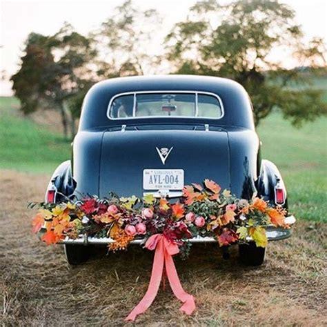 Wedding Car Fall 21 stunning fall wedding ideas stayglam