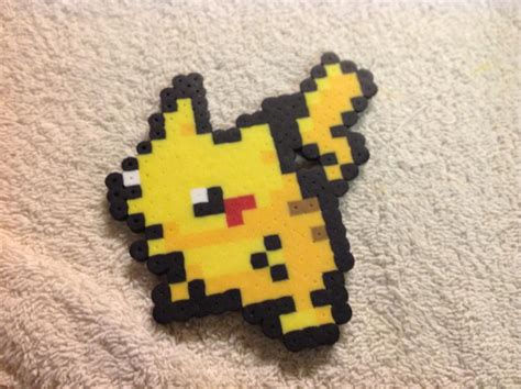 perler pikachu pikachu perler bead by reflectiveless on deviantart