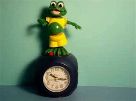 frog talking clock