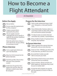 How To Prepare For A Cabin Crew by Flight Attendant Tips Flight